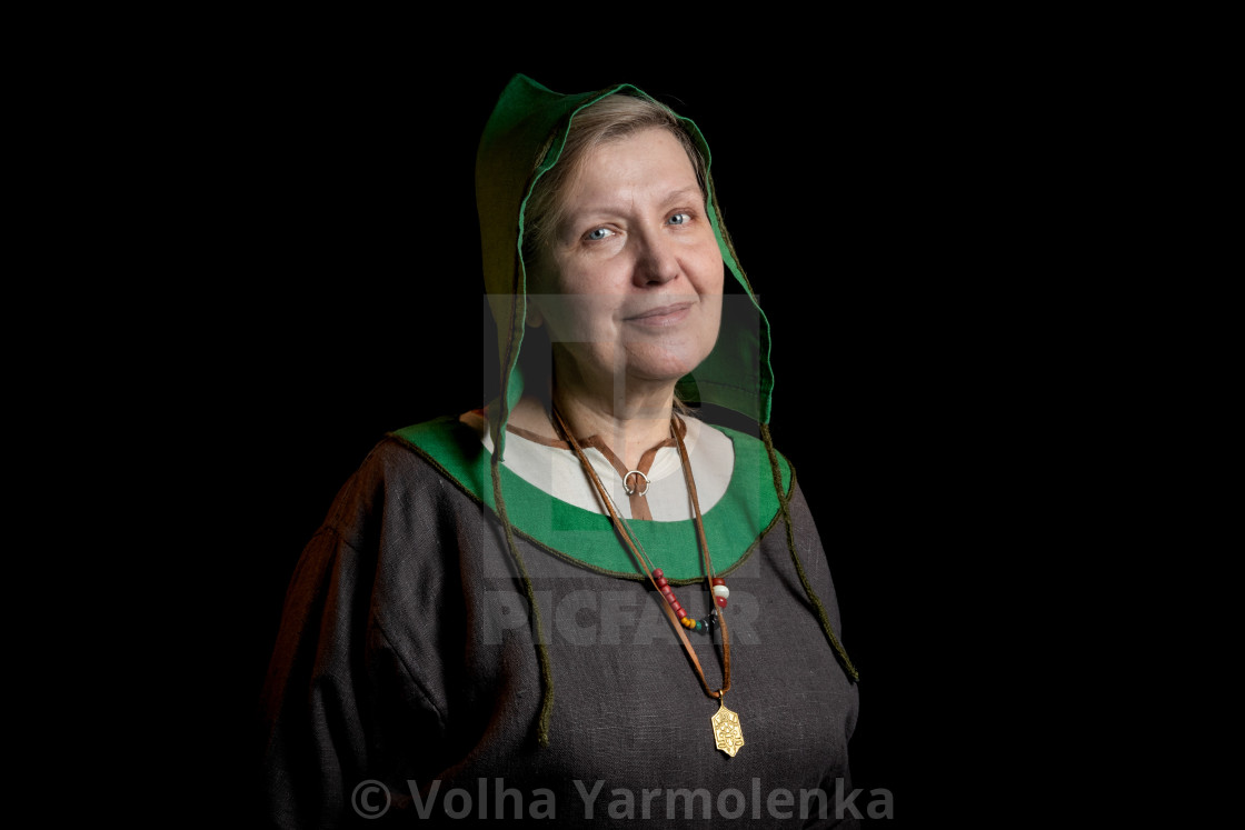 Mature Viking Woman Close Up License Download Or Print For