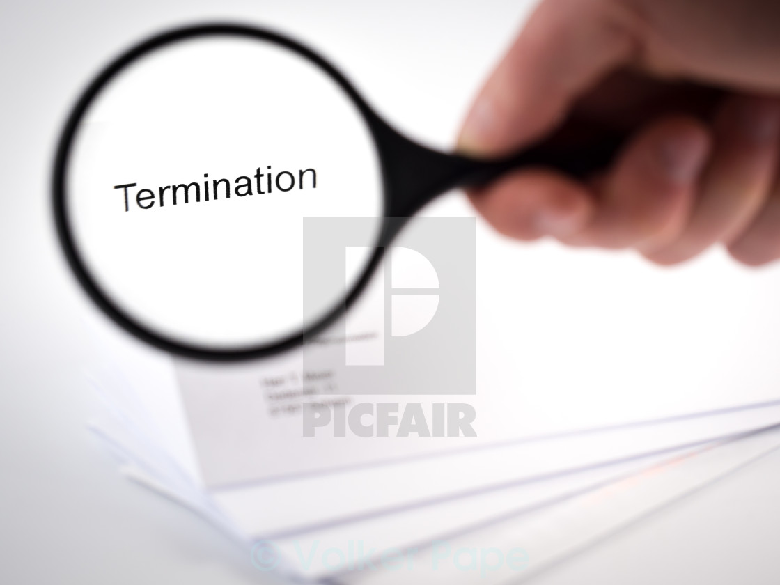 """termination"" stock image"