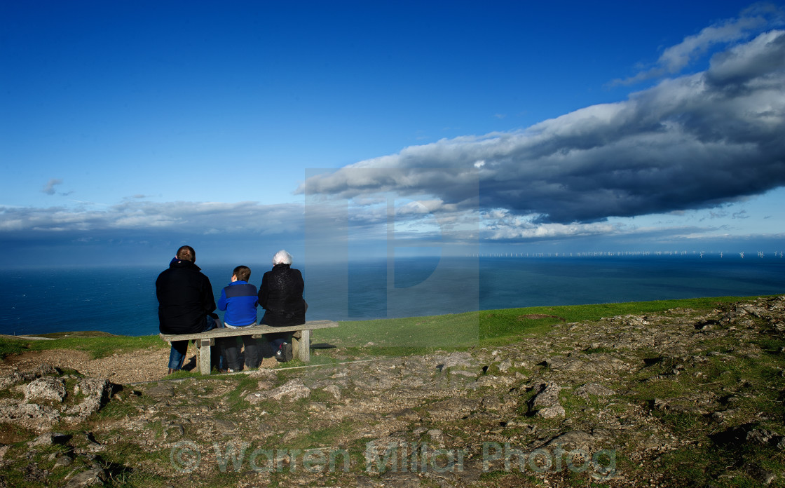 """Seat with a view"" stock image"