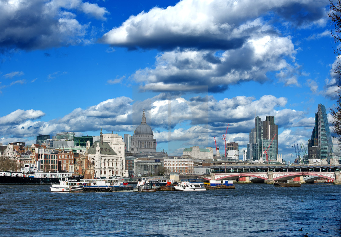 """London Sky line and River Thames"" stock image"