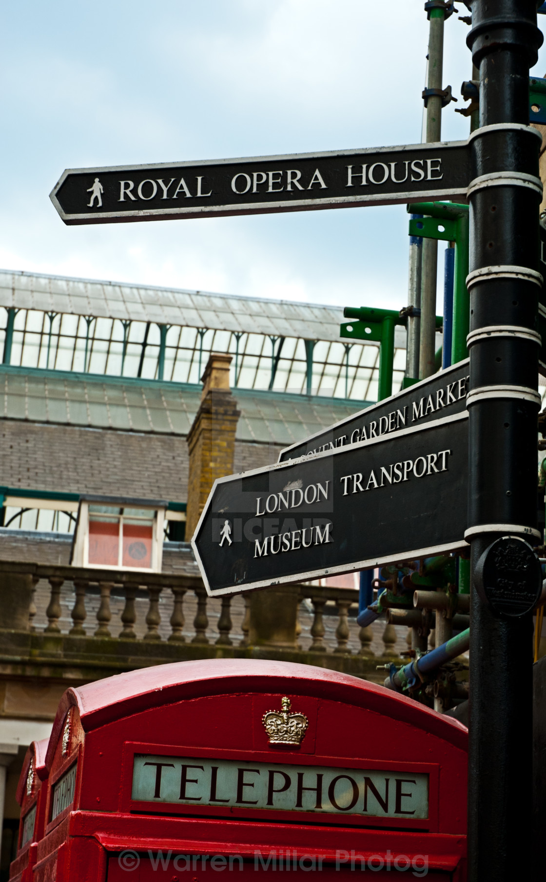 """""""London sign posts"""" stock image"""