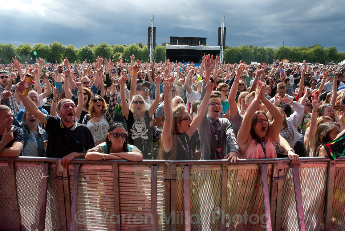 """Music festival crowd"" stock image"