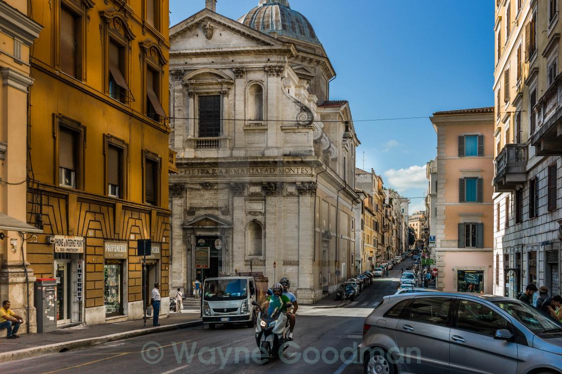 """""""Street scene in Rome, Italy"""" stock image"""