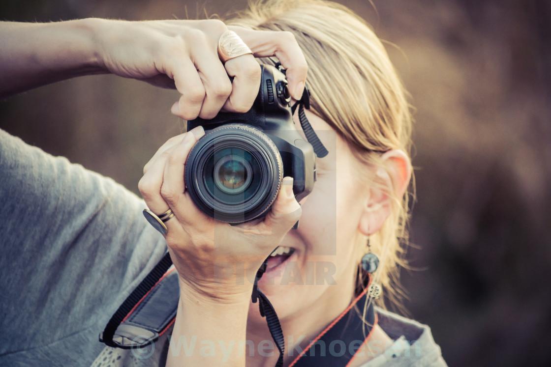 """""""Female photographer"""" stock image"""