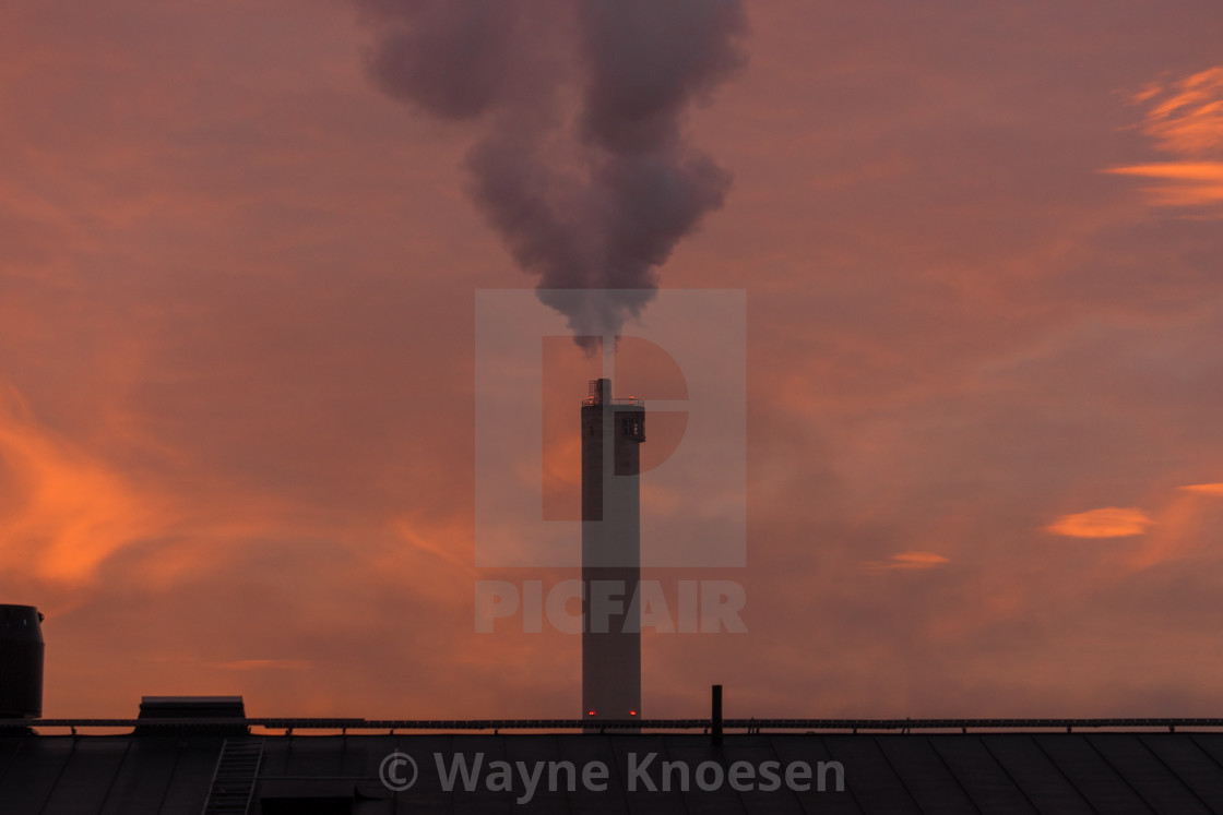 """Smokestack in Sweden"" stock image"