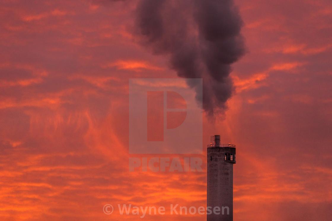 """Smokestack in Sweden"" stock image"