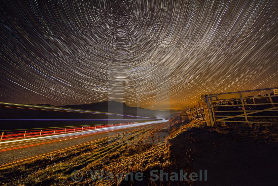 """Snowdonia Star Trails"" stock image"