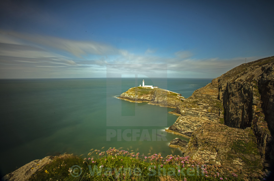 """""""Lighthouse, Coastal Guardian."""" stock image"""