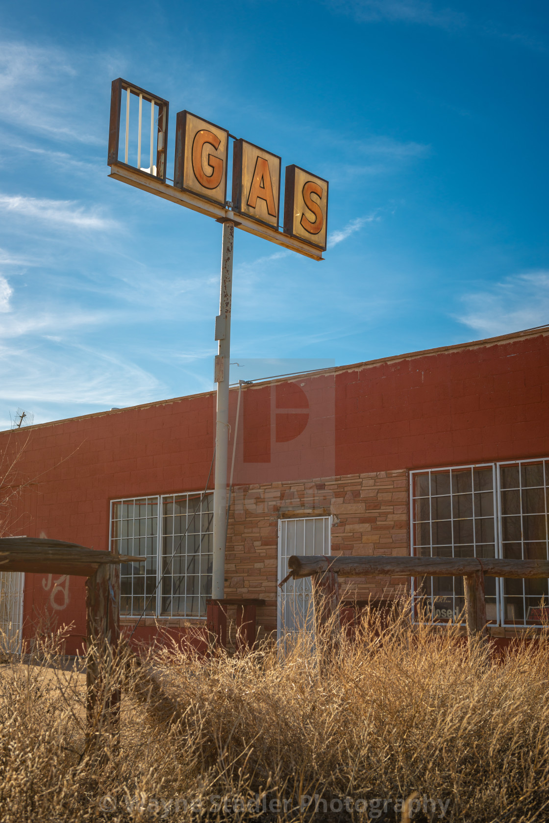 """Abandoned Gas"" stock image"