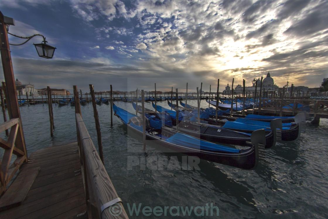 """""""Venice's Santa Maria della Salute sunset view"""" stock image"""