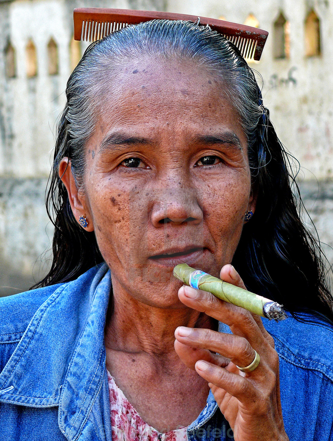 """MANDALAY WOMAN"" stock image"