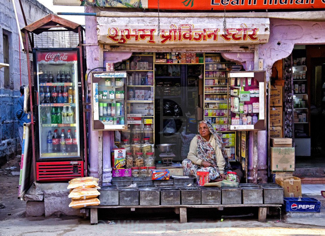 """JODHPUR SHOP"" stock image"