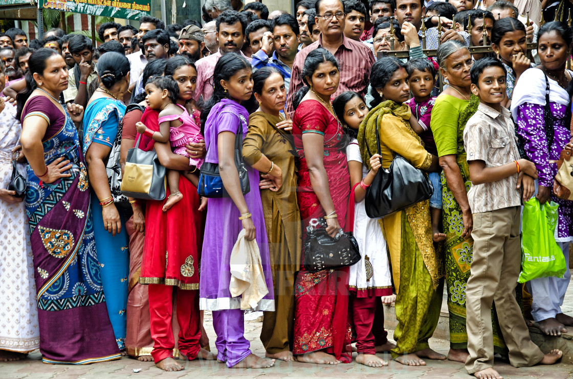 """QUEUEING"" stock image"