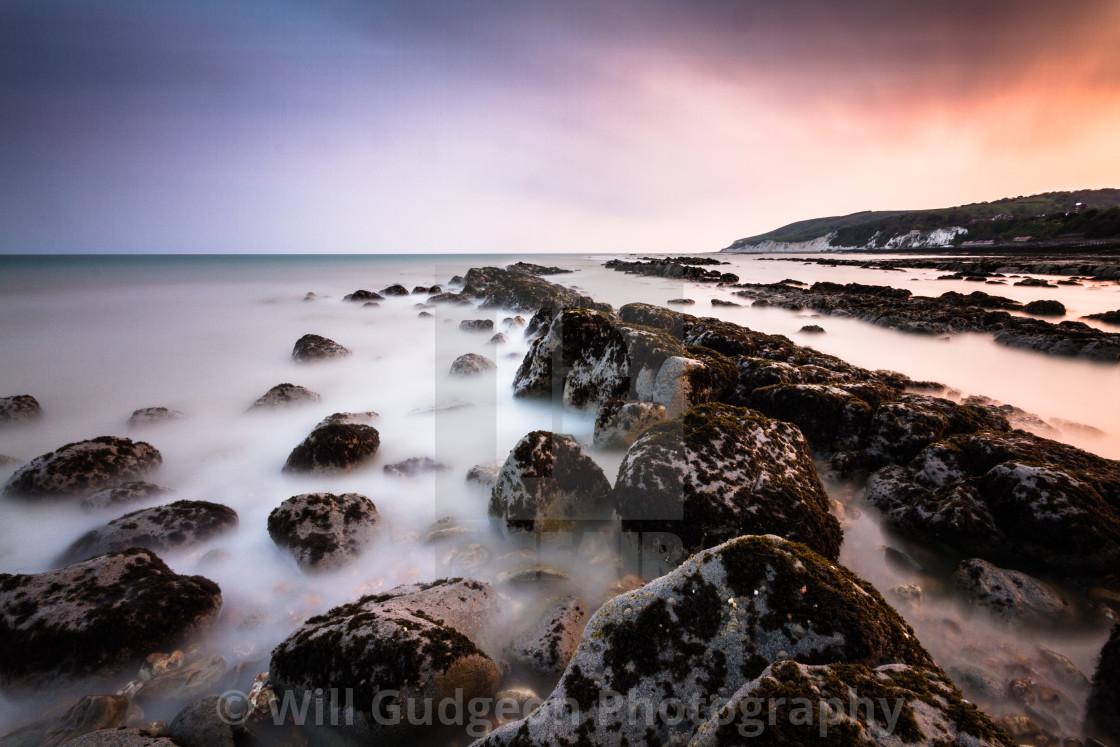 """Seascape sunset"" stock image"