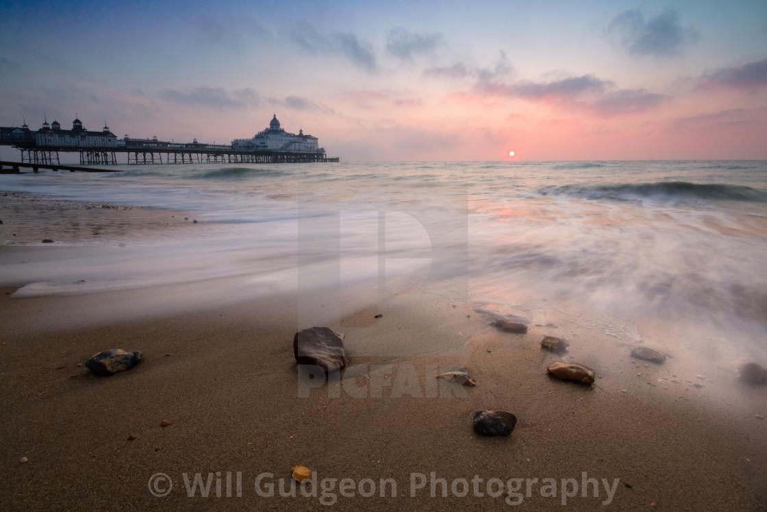 """Eastbourne pier sunrise"" stock image"