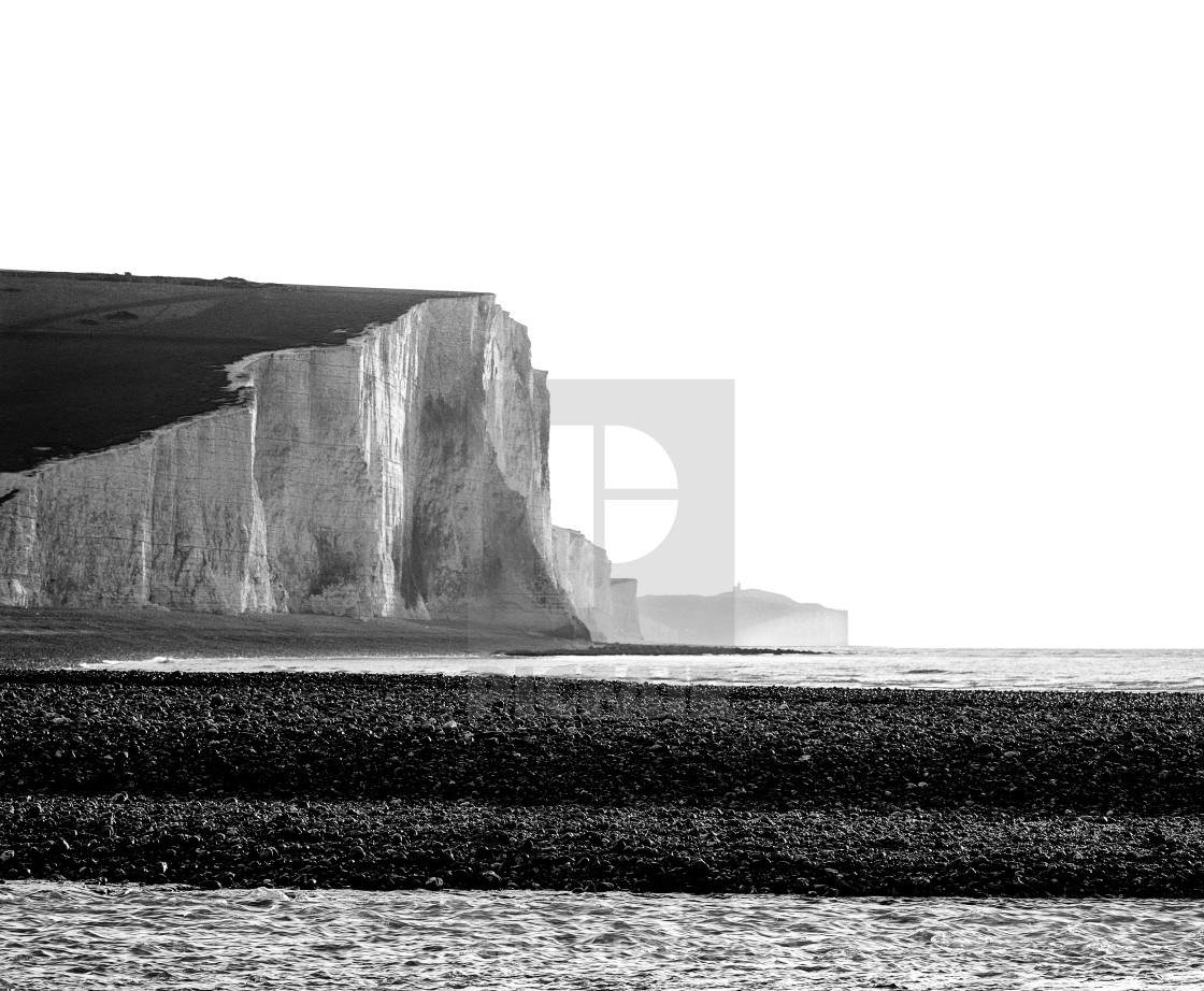 """The Seven Sisters, Sussex England"" stock image"