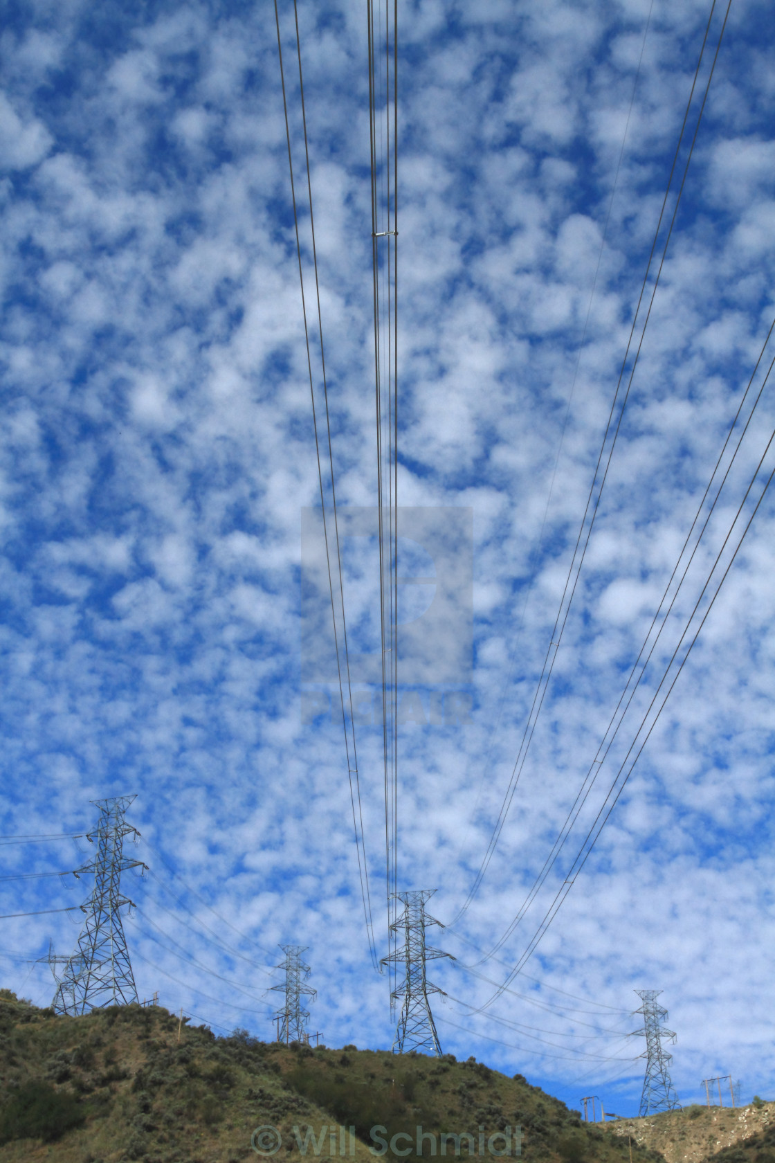 """Electrical Power Cables and Pylons"" stock image"