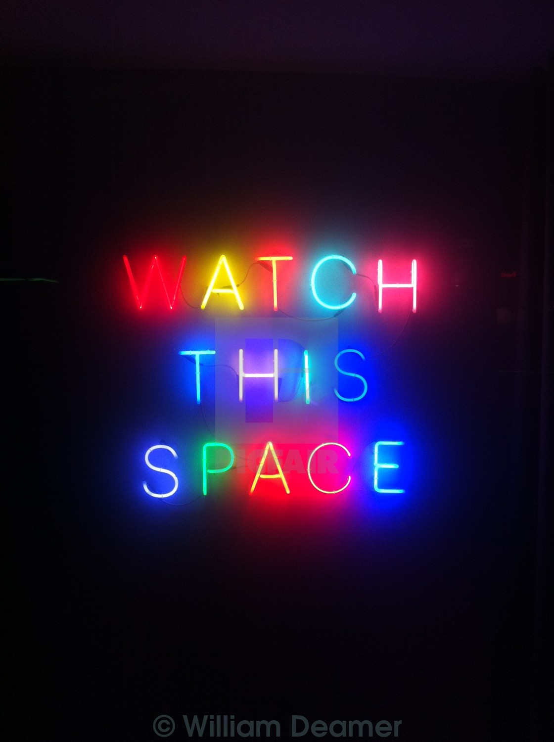 """Watch This Space"" stock image"