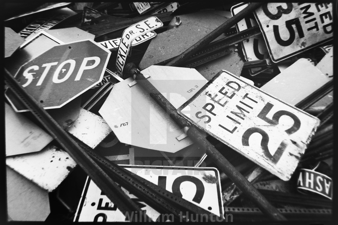 """Street Sign Cemetery"" stock image"