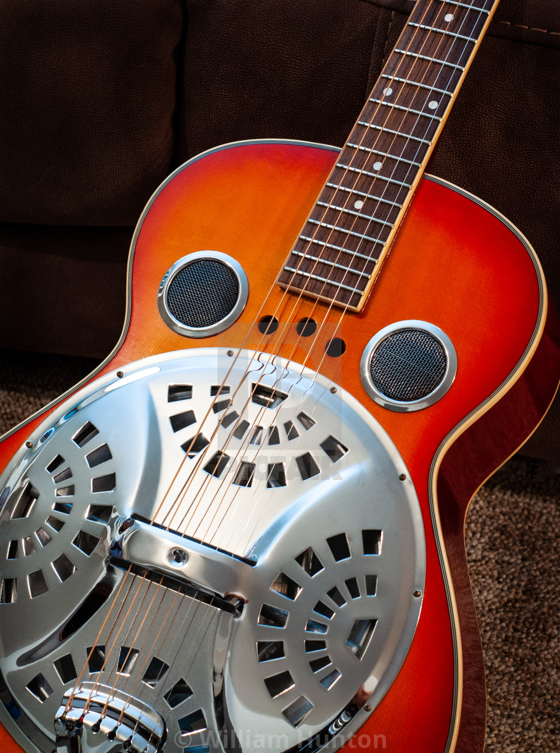 """""""Slide Guitar Ready to Play"""" stock image"""
