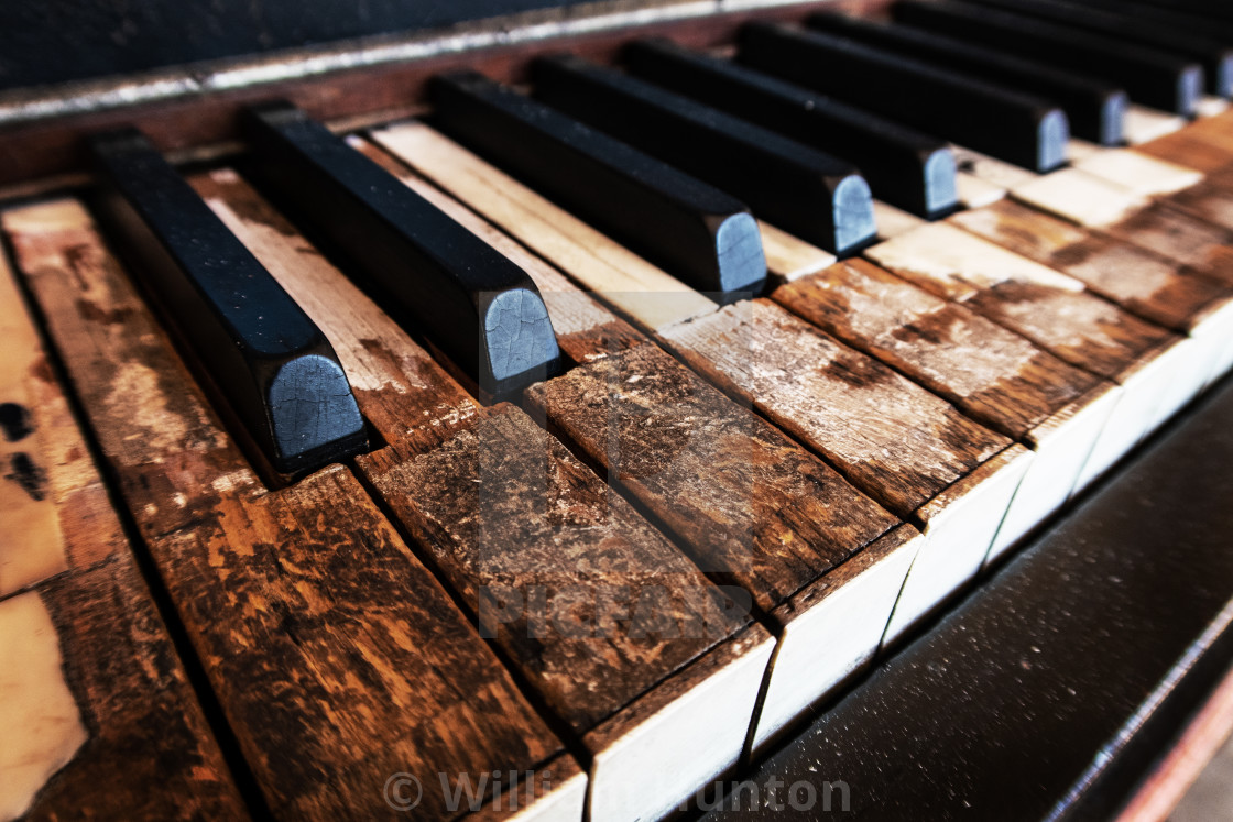 """""""Old Piano Keys - Color"""" stock image"""