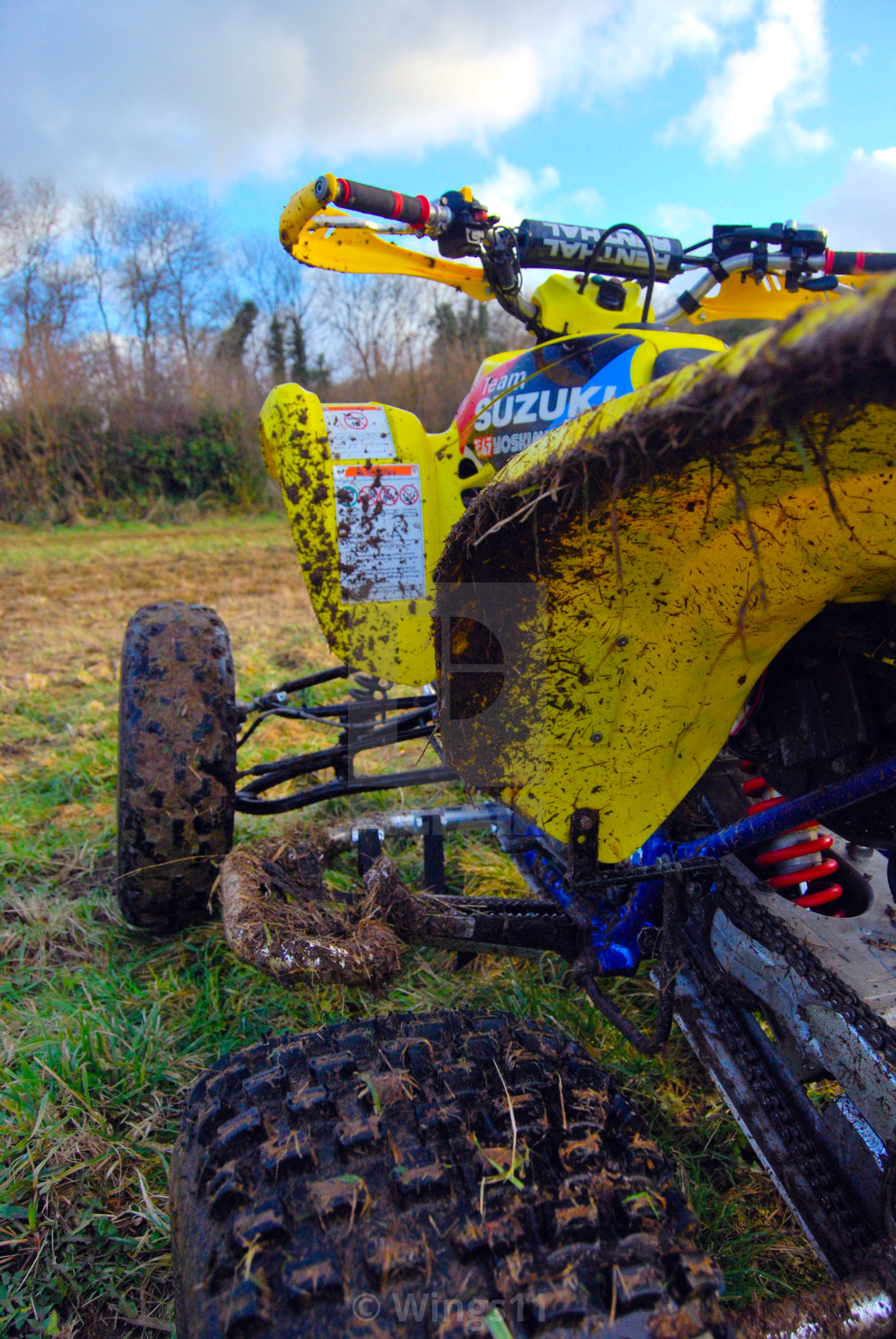 """Muddy Quad Bike"" stock image"