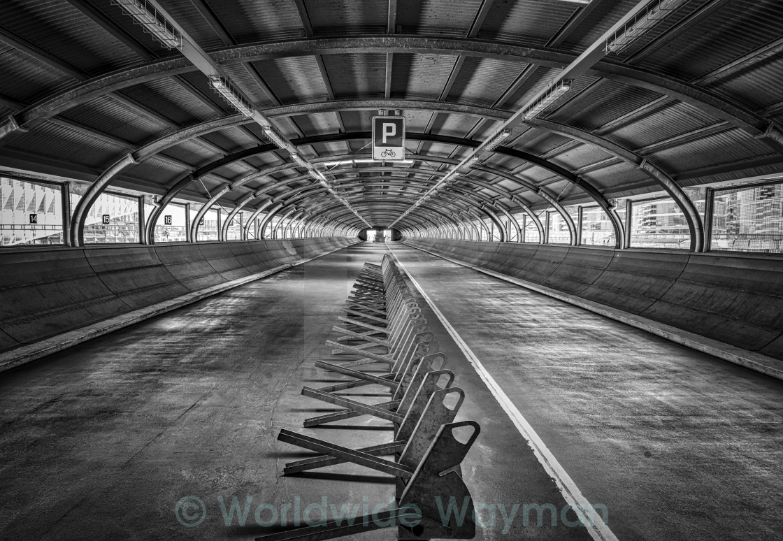 """Tunnel Vision 2 (Monochrome)"" stock image"