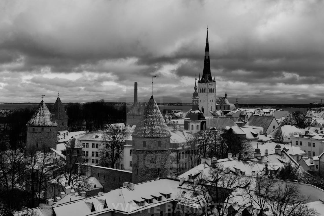 """winter in Tallinn"" stock image"
