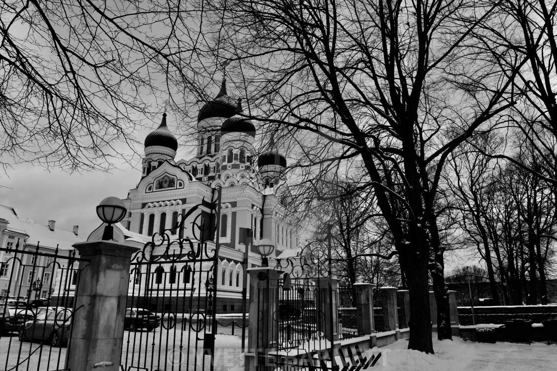 """""""winter in Tallinn"""" stock image"""