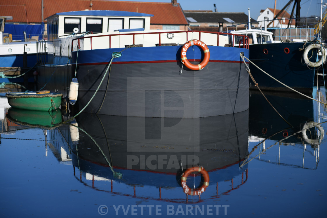 """Boat reflection"" stock image"