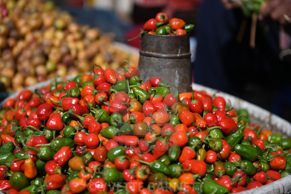 """""""Chilli in the market"""" stock image"""