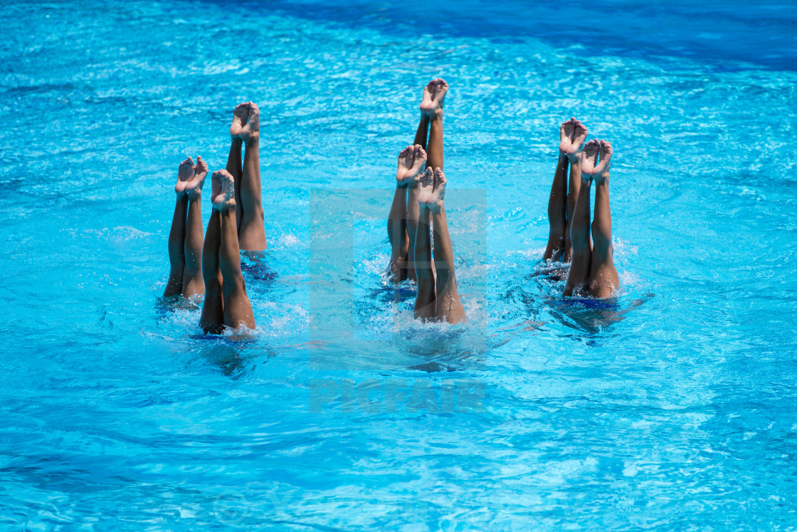 """Synchronised Swimming"" stock image"