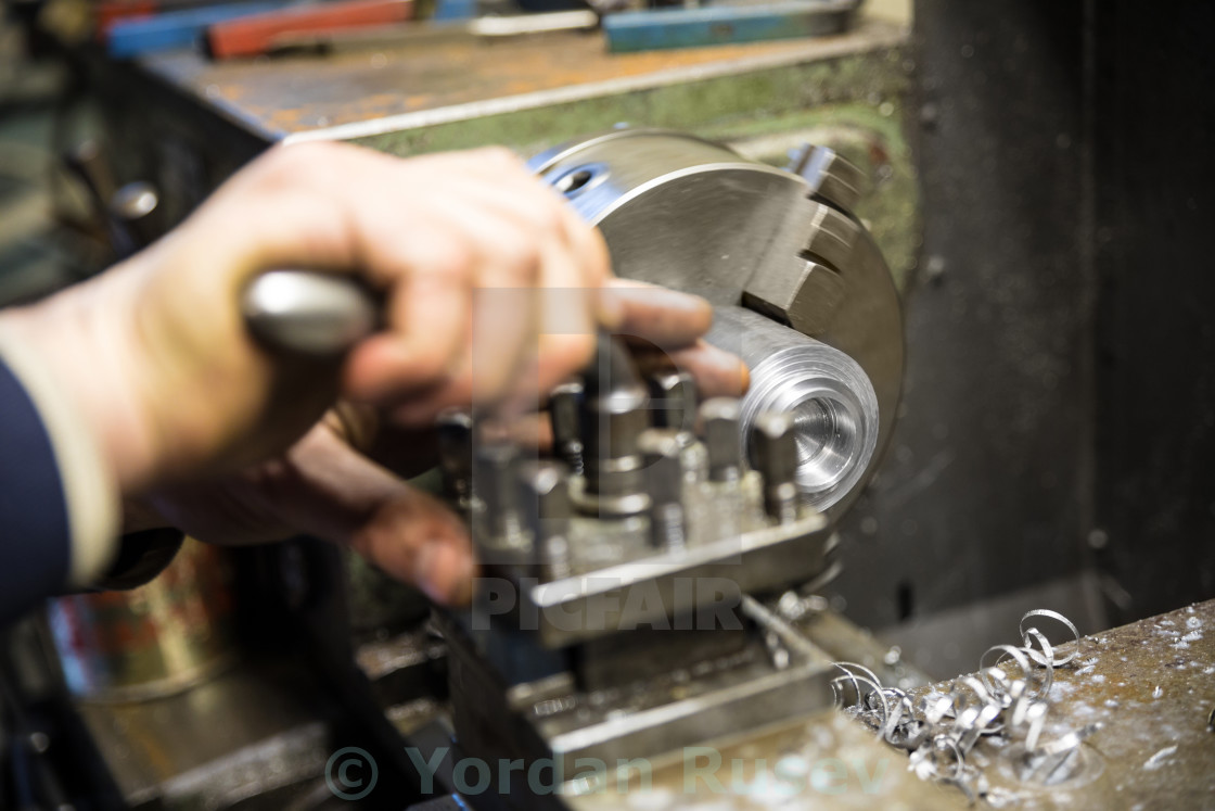 """Lathe grinder machine"" stock image"