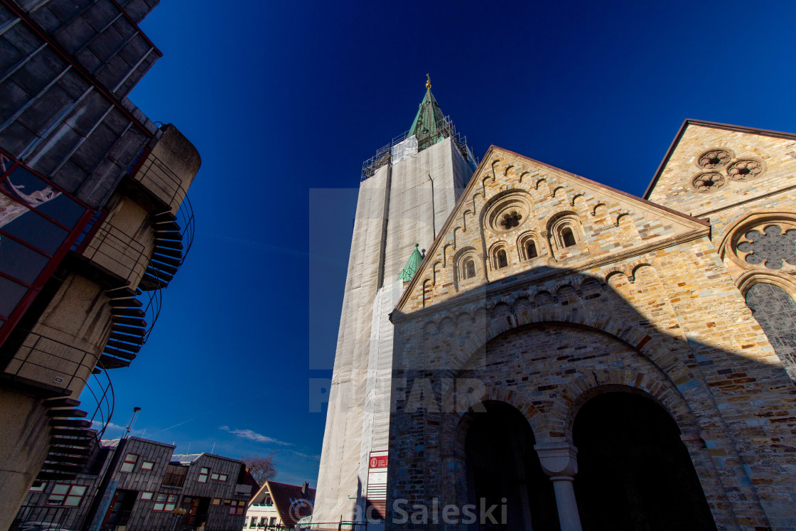 """Paderborn Cathedral Front"" stock image"