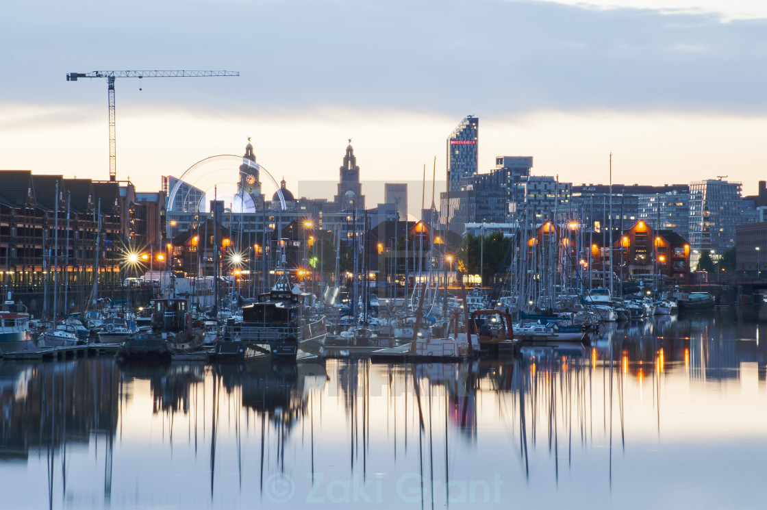 """Liverpool Marina Liver Buildings"" stock image"
