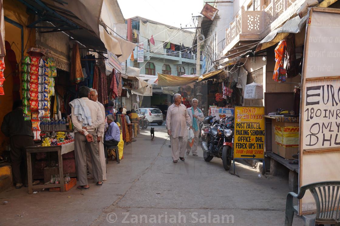 """Street of Pushkar"" stock image"