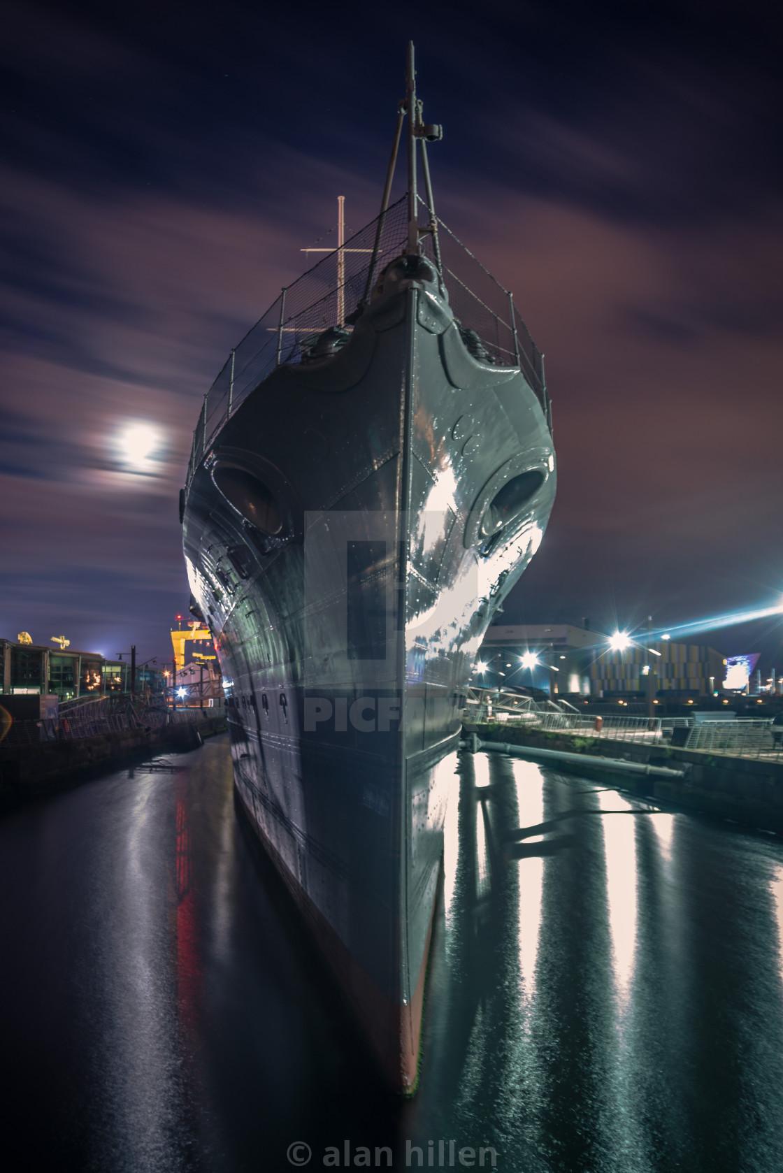 """""""Boat in Belfast,"""" stock image"""