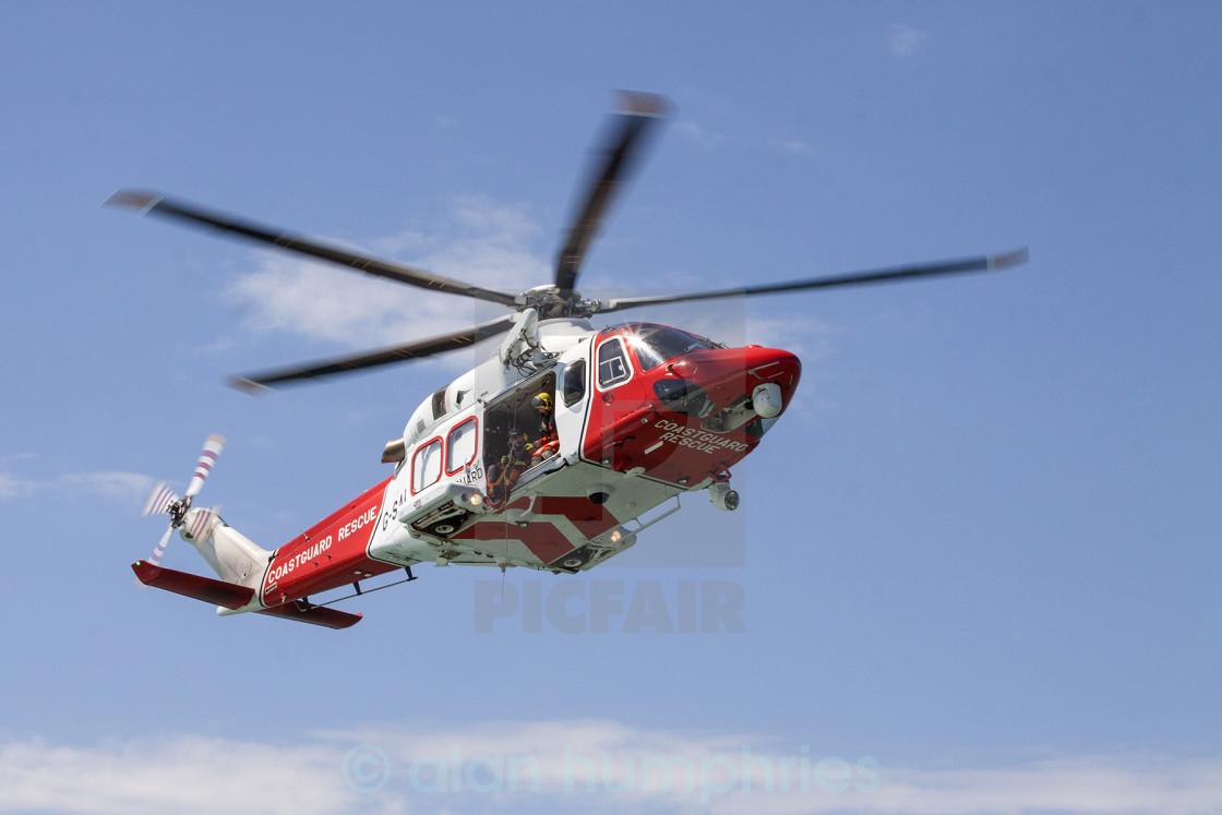 """""""Coast Guard Helicoptor Image 1"""" stock image"""