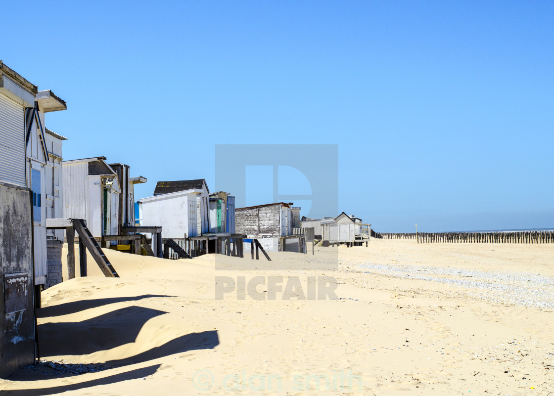 """""""Old beach huts."""" stock image"""