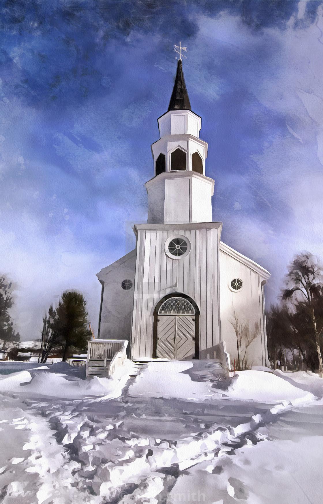 """""""Norwegian Church"""" stock image"""