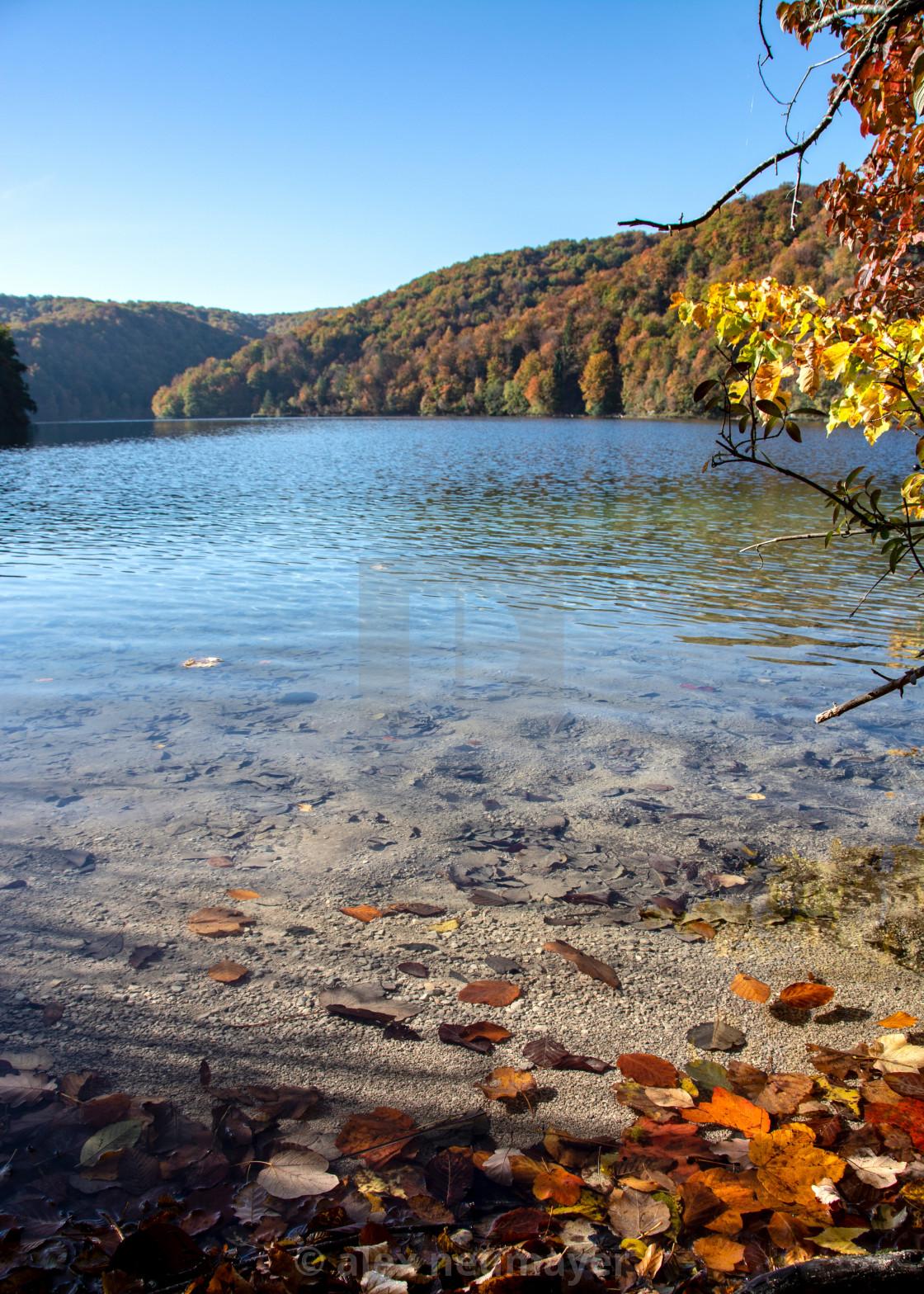 colorful autumn season at the lakes