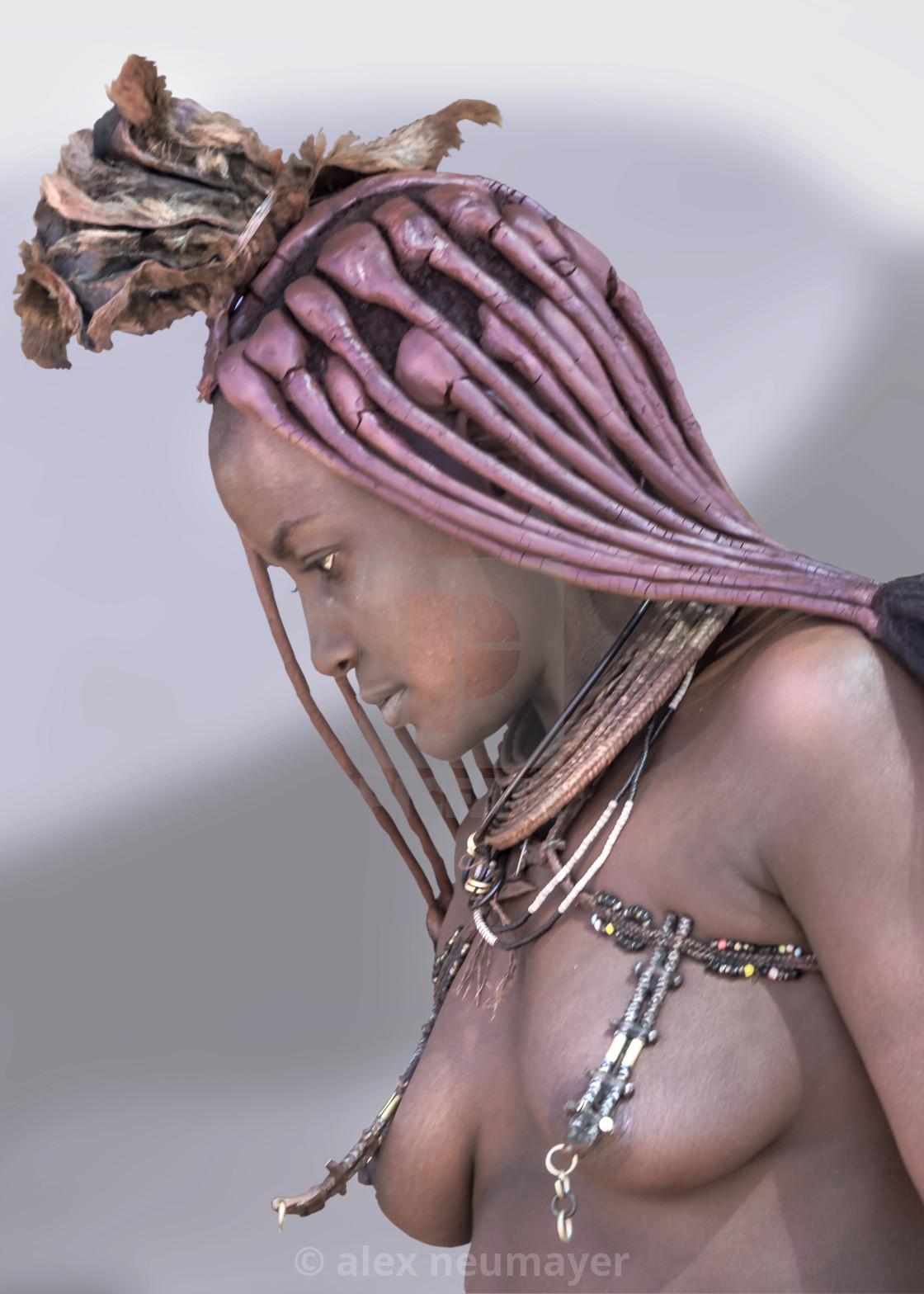 Himba portrait painting style