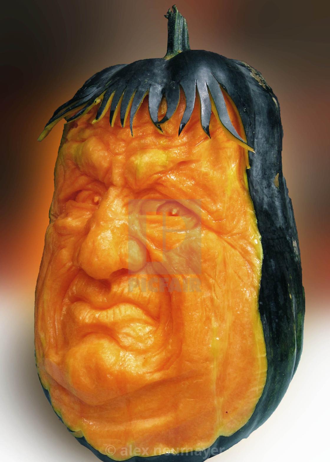 Halloween carved pumpkins faces