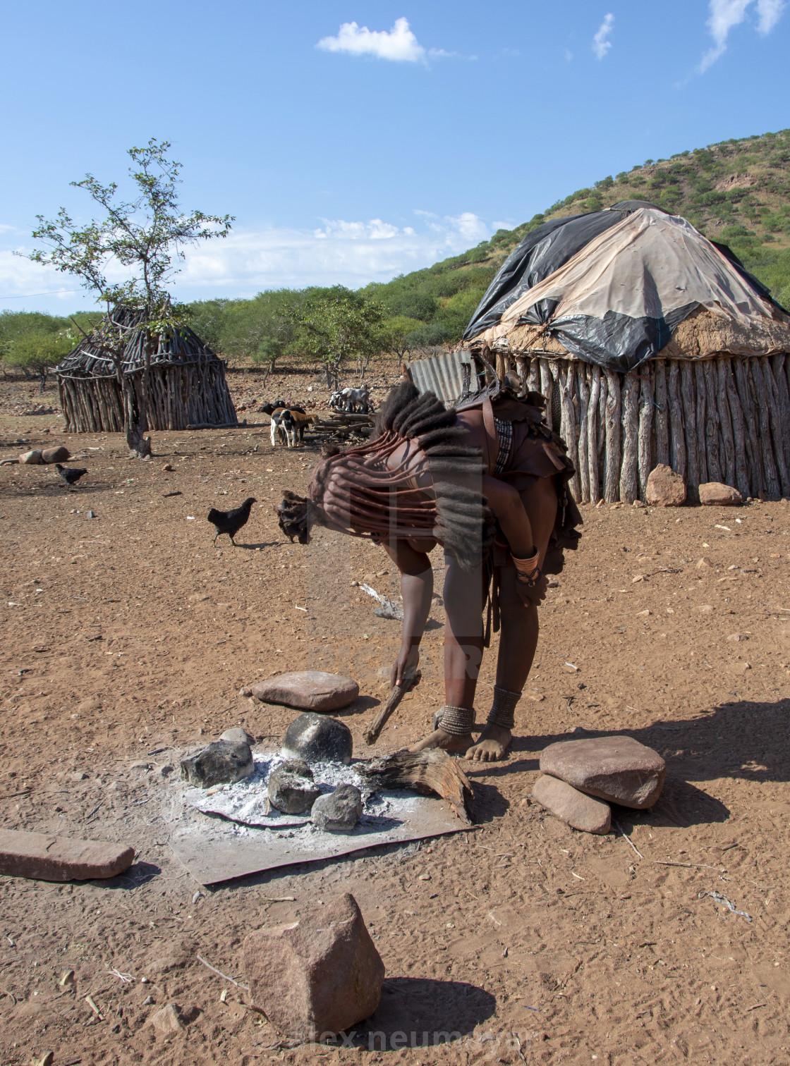 visiting a himba village
