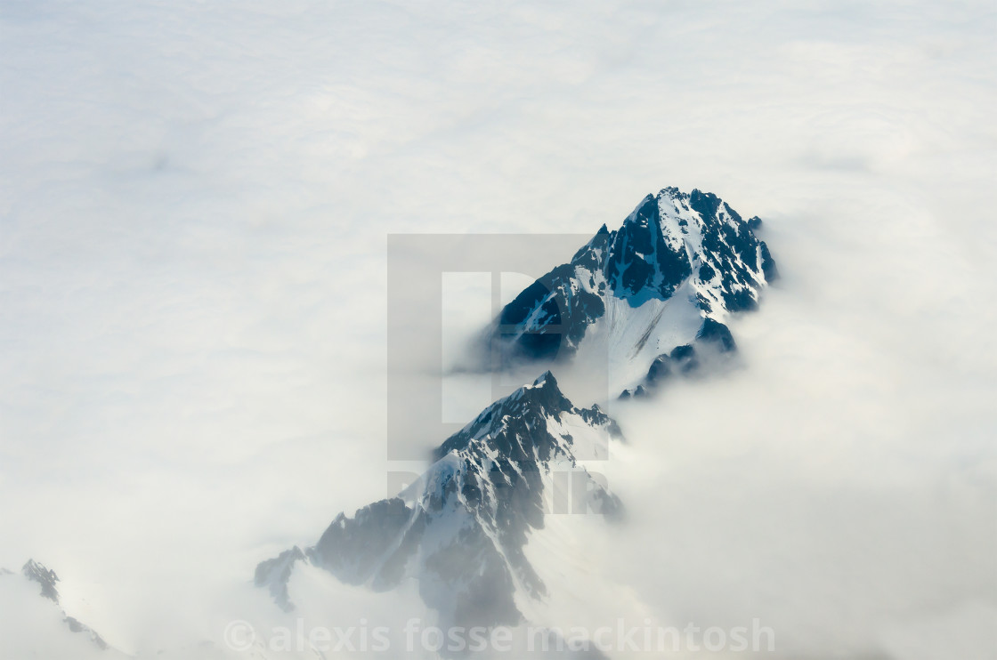 """BC Mountain in Clouds"" stock image"