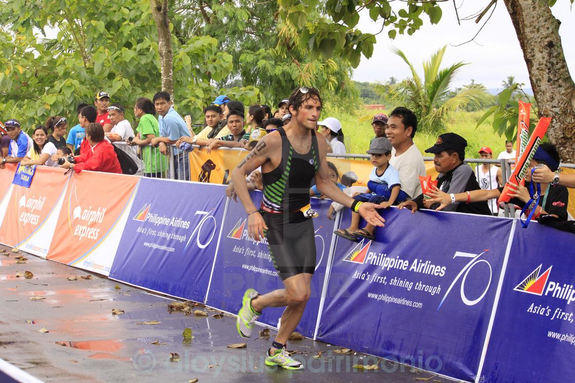 """Ironman Philippines winner Jesse Thomas"" stock image"