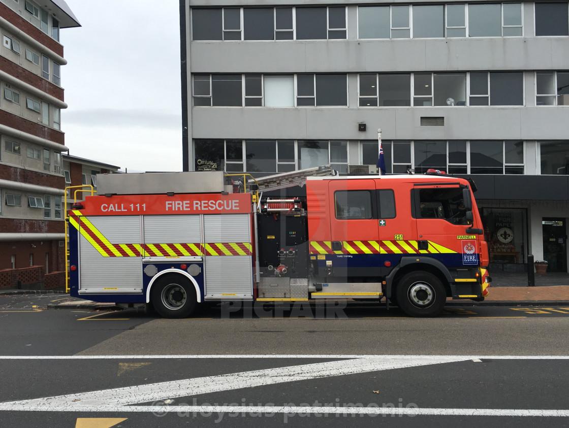 """New Zealand Fire Truck"" stock image"