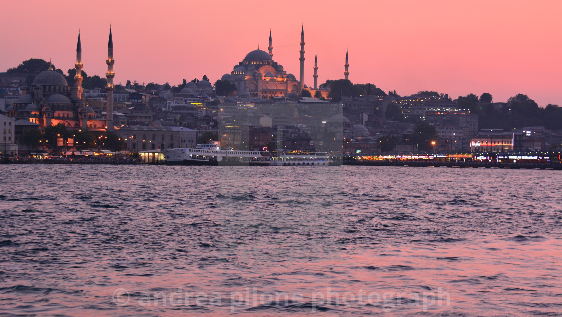 """sunset in Istanbul.."" stock image"