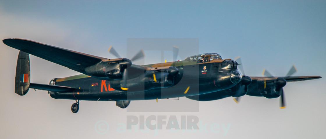 """Lancaster Bomber, Battle of Britan Memorial Flight"" stock image"
