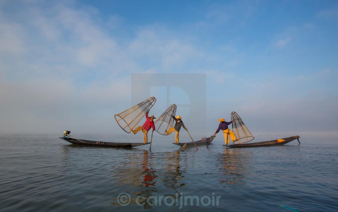 """""""three inle fishermen"""" stock image"""